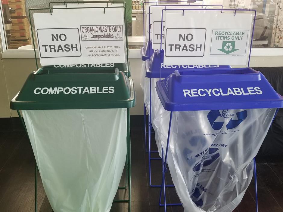 Bin rentals for your Zero Waste event.