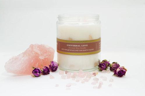 Universal Love-Rose Geranium w/Rose Quartz- Pure Plant Alchemy