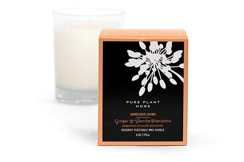 Coconut Wax Candle Glass Jar, 6 ounces