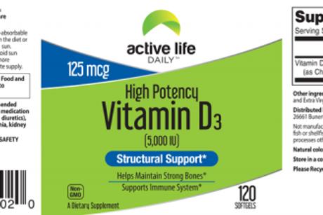 Vitamin D3 Softgells