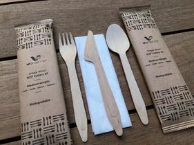 Medium weight wooden cutlery from Verter