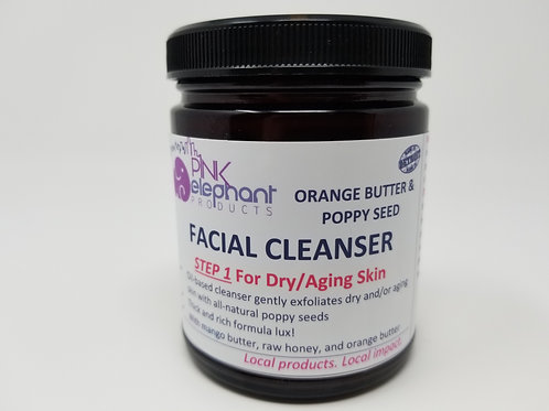 Orange Butter & Poppy Seed Facial Cleanser for Dry/Aging Skin