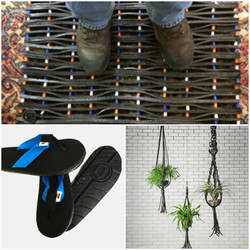 Upcycled products from tires