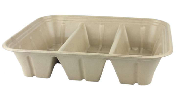 104 oz. 3-compartment Catering Pan