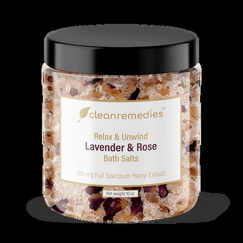 Lavender Rose CBD Bath Salts