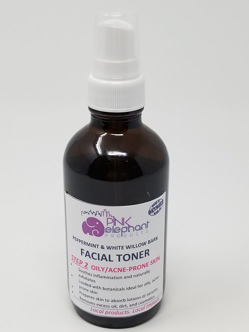 Peppermint & White Willow Bark Toner for Oily/Acne Prone Skin