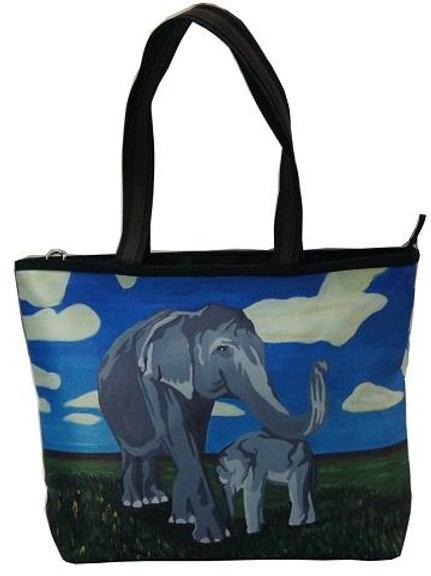 'Gentle Giants' Elephant Tote Bag