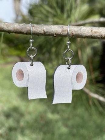 Toilet Paper Wood Earrings