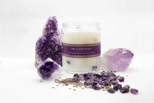 'The Clairvoyant' - Lavender Sage w/Amethyst Crystals- Pure Plant Alchemy