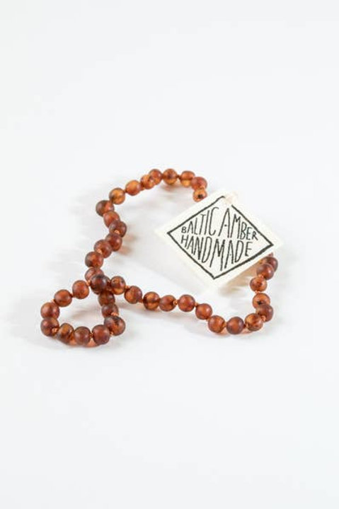 Baby/Child Polished Cognac Amber Necklace