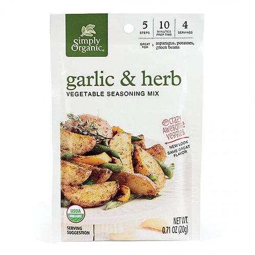 Organic Garlic & Herb Veggie Mix