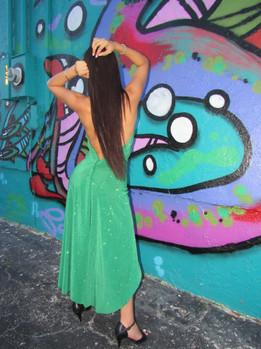 Fairy Green gown dance wear by VEROSEL