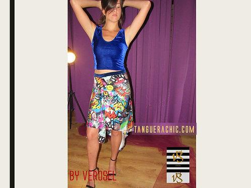 Cartoon girl's skirt