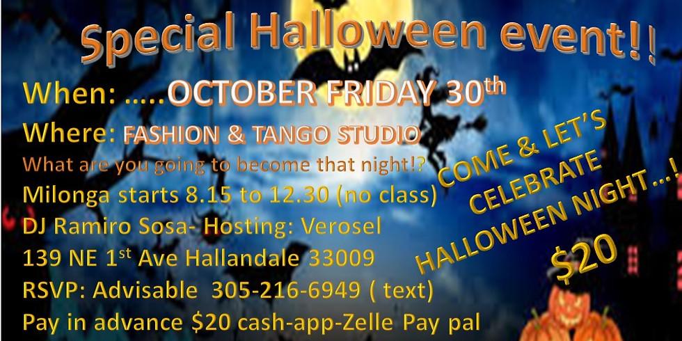 Milonga LOS LEONES Special Halloween event!