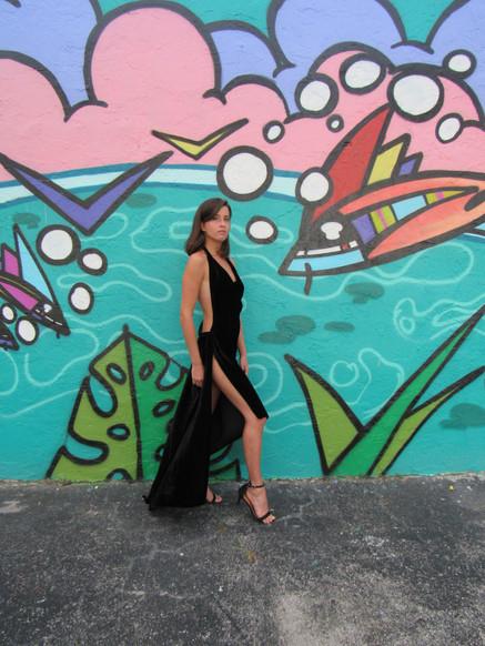 Panter black dress- dance wear coctail wear by VEROSEL