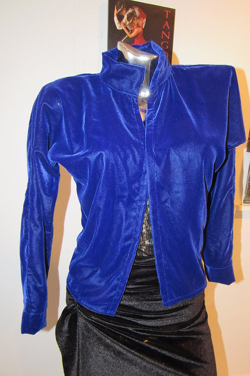 Electric Blue coat -front view