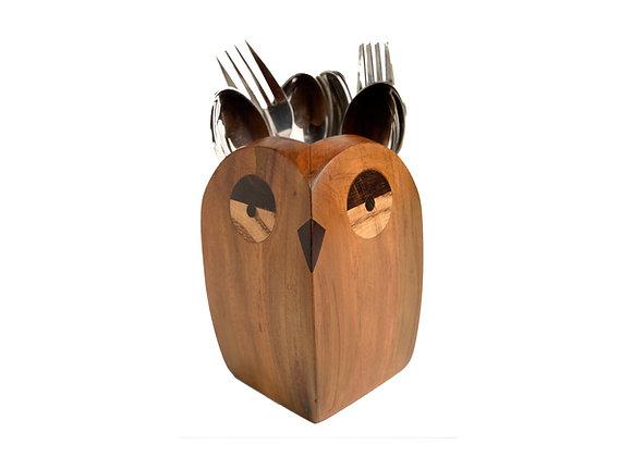 Owl Cutlery Holder