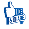 like and share thumbs up clipart