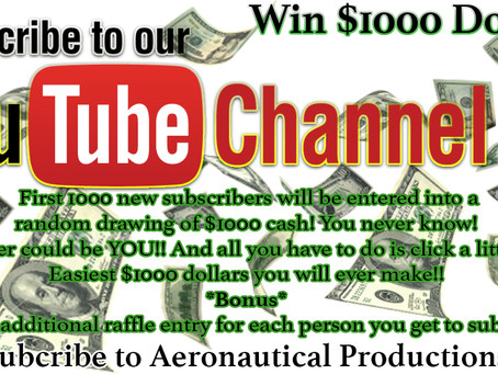 WE ARE GIVING AWAY $1000 CASH!