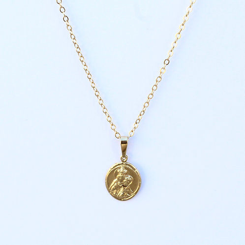 Mother Mary & Baby Jesus Necklace