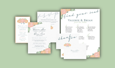 V&B Wedding Print Items