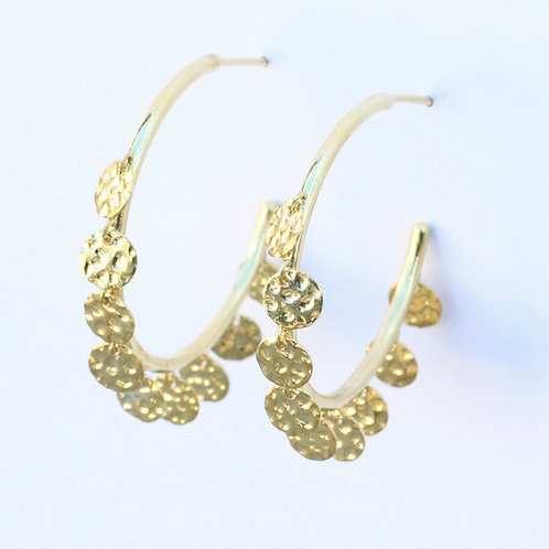 Hammered Confetti Hoops