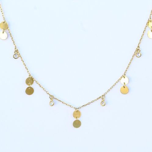 Cz Confetti Pendant Necklace