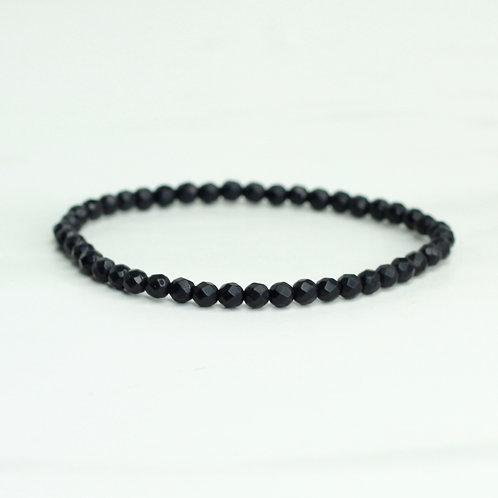 Small Agate Beaded Bracelet
