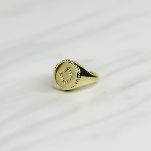 Libra Signet Ring