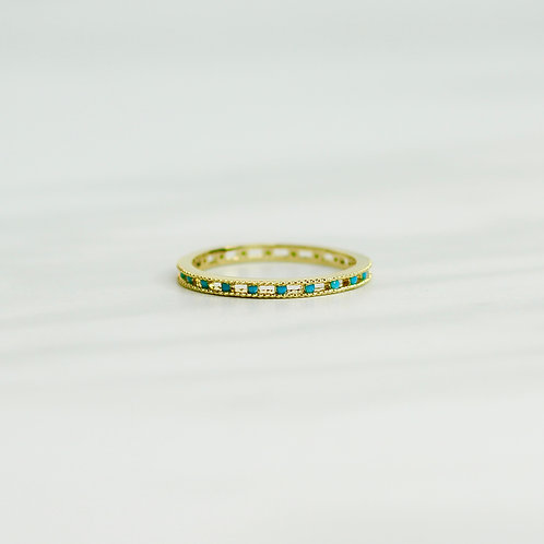 Turquoise Stone Stacking Ring