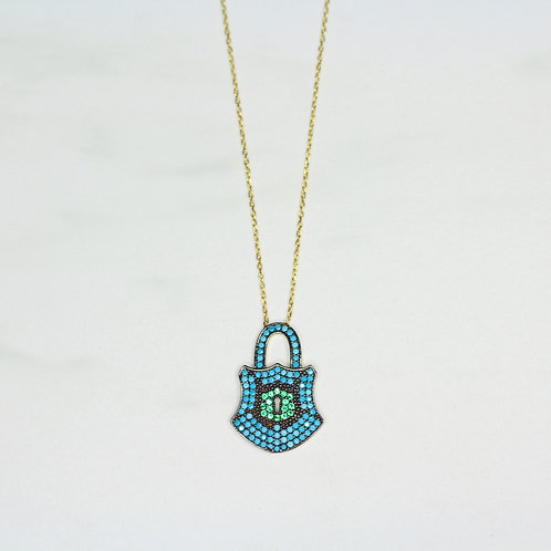 Pave Locket Necklace