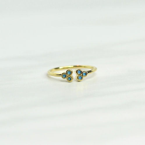 Clover Turquoise Ring