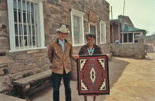 Doc McNeal, and Dine' weaver from Hubbell's Trading Post at Ganado, AZ in 1981.