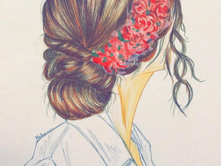 Hairstyle Rendering and Hand Work by - Meha Mankad