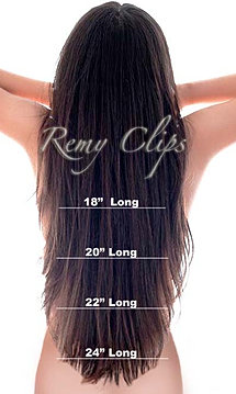 Pleasing Remy Clips Hair Extension Length Chart Hairstyle Inspiration Daily Dogsangcom