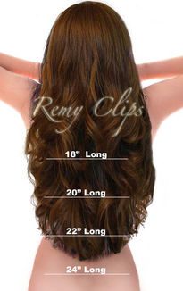 Remy Clips Human Hair Extensions