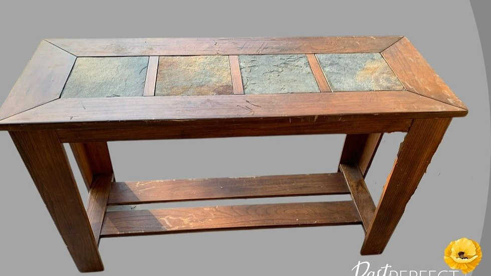 Unfinished Entry way Table