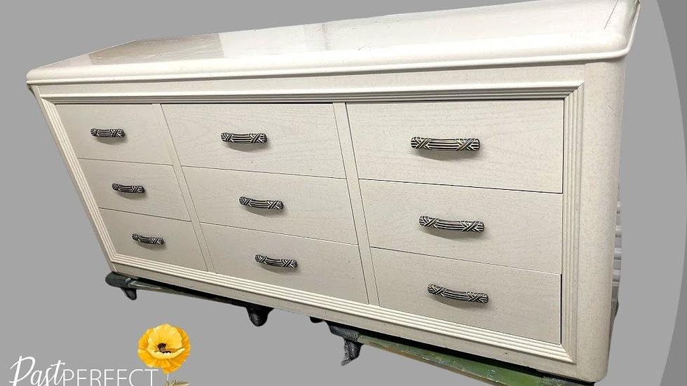 Unfinished Large White Dresser