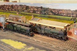 LMS 'Patriots' 45541 'Duke of Sutherland' and un-named 45549