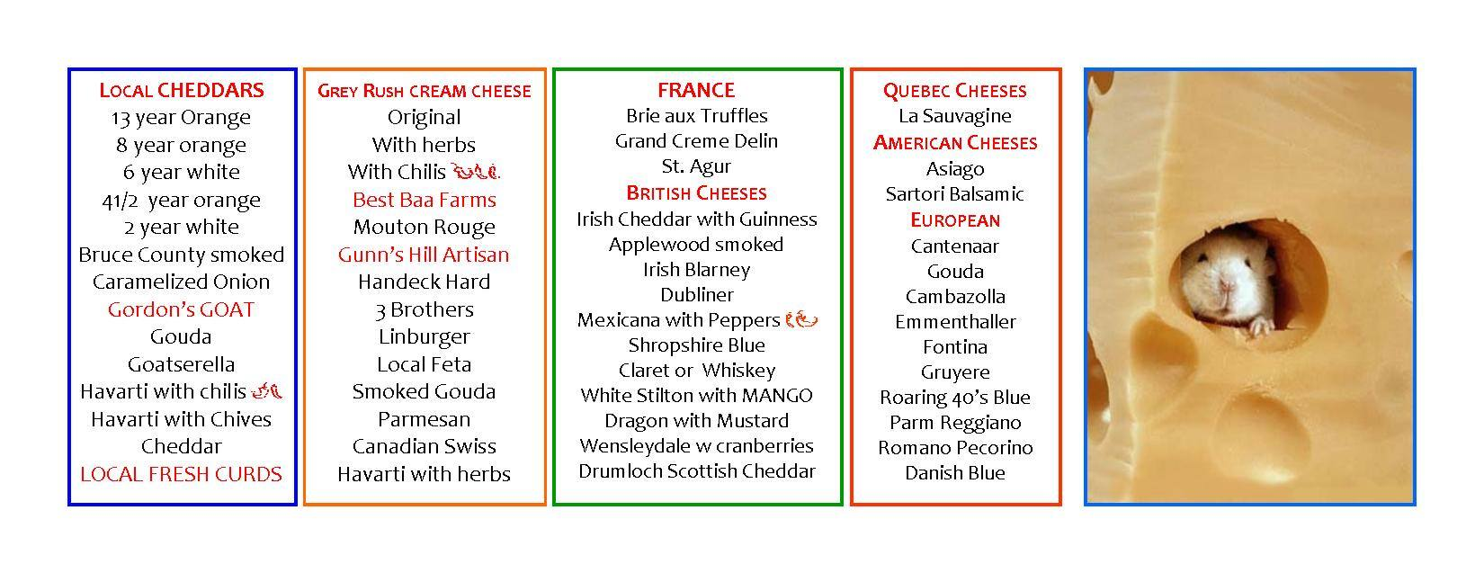 cheese list