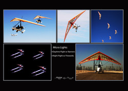Microlights with Fireworks