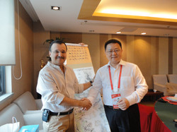 With the head of Shanghai World Expo