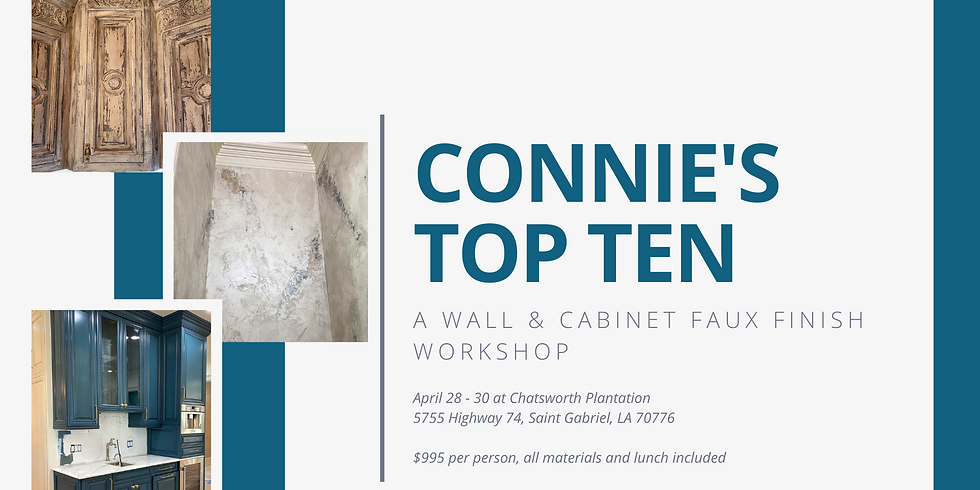 Connie's Top Ten: A Wall & Cabinet Faux Finish Workshop