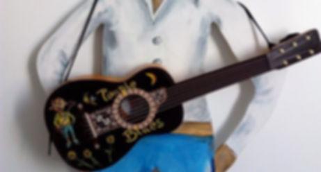 Guitare enfant customisée Toupie Blues