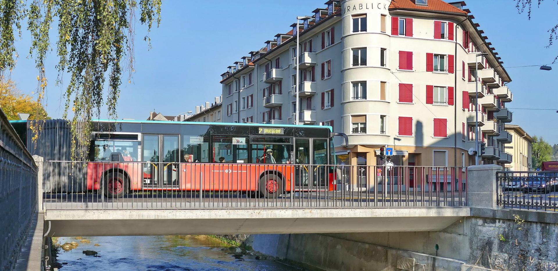 Brücke Jurastrasse, Schüss-Kanal, Biel