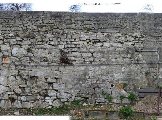 Stützmauer Schützengasse Kirche, Biel