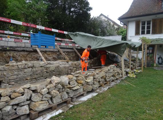 Aufmauerung Natursteinmauer
