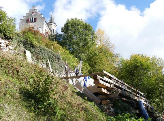 Stützmauern Schloss Oberbipp