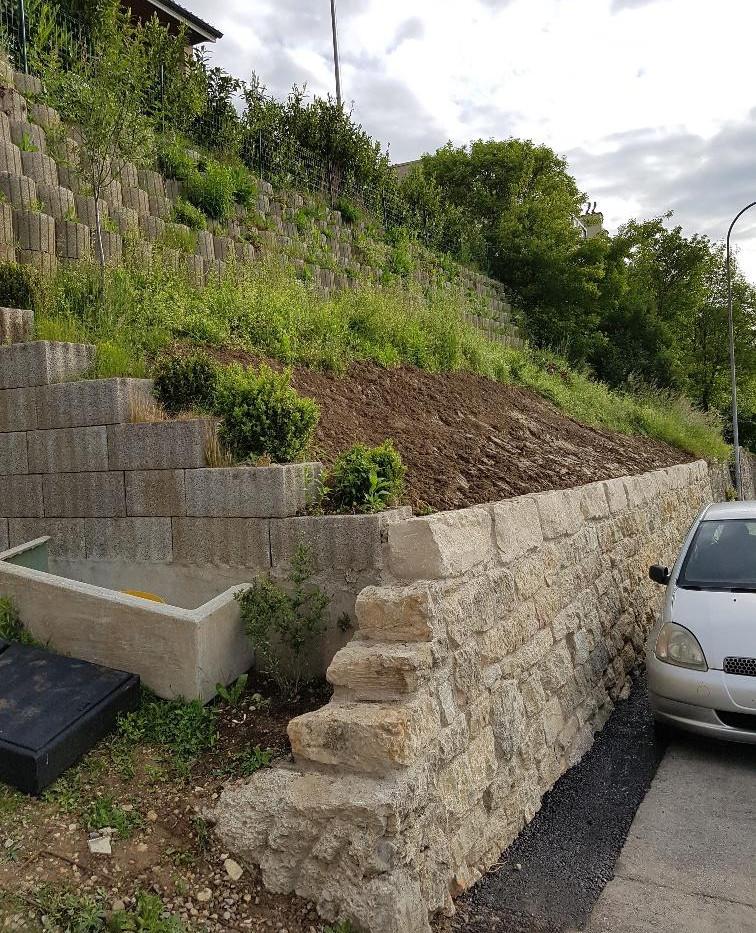 Stützmauer Zollhausstrasse, Biel