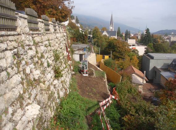 Stützmauer Alpenstrasse, Biel